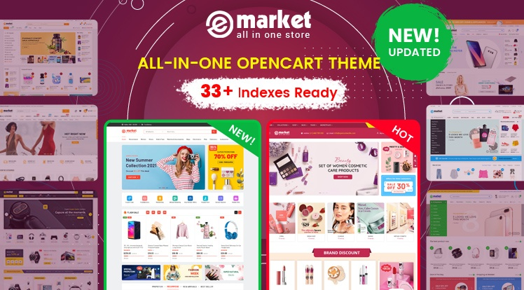 OpenCart News: Design #33 Available in eMarket Bestselling OpenCart Theme