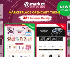 Opencart News: Design #32 Available in eMarket - Bestselling All-in-One OpenCart Theme