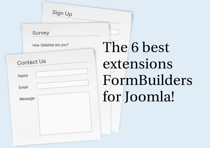 ADD THEMES Joomla News: The 6 best extensions form builder for joomla!