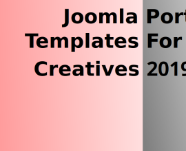Joomla News: Joomla Portfolio Templates For Creatives 2019