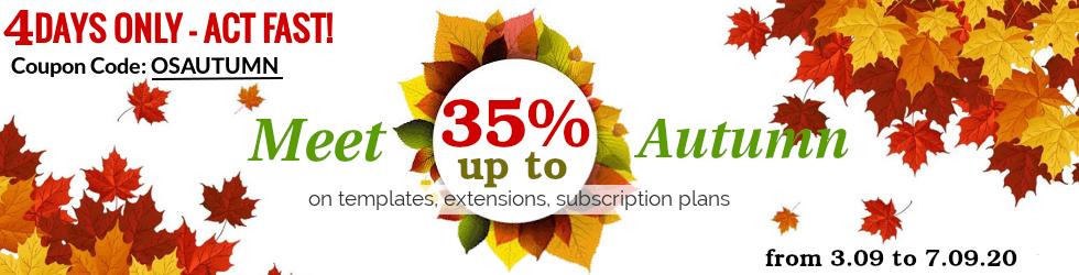 Joomla News: Meet Autumn with OrdaSoft sale !