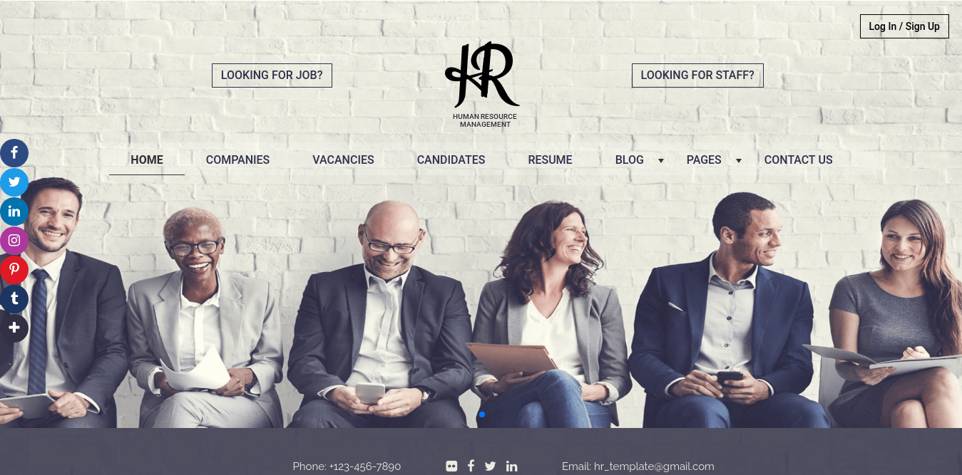 Joomla News: New HR website template for recruitment agency!