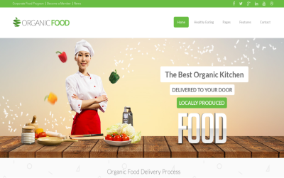 Organic Food - best drupal 7 theme include