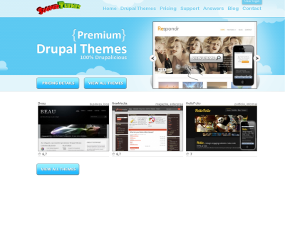 SooperThemes Drupal themes club - free support and best free Drupal themes