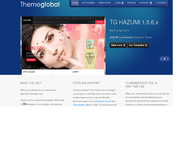 Theme Global Opencart theme club - best free Opencart themes
