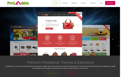 PrestAddon Pretashop Theme Club - premium prestashop themes