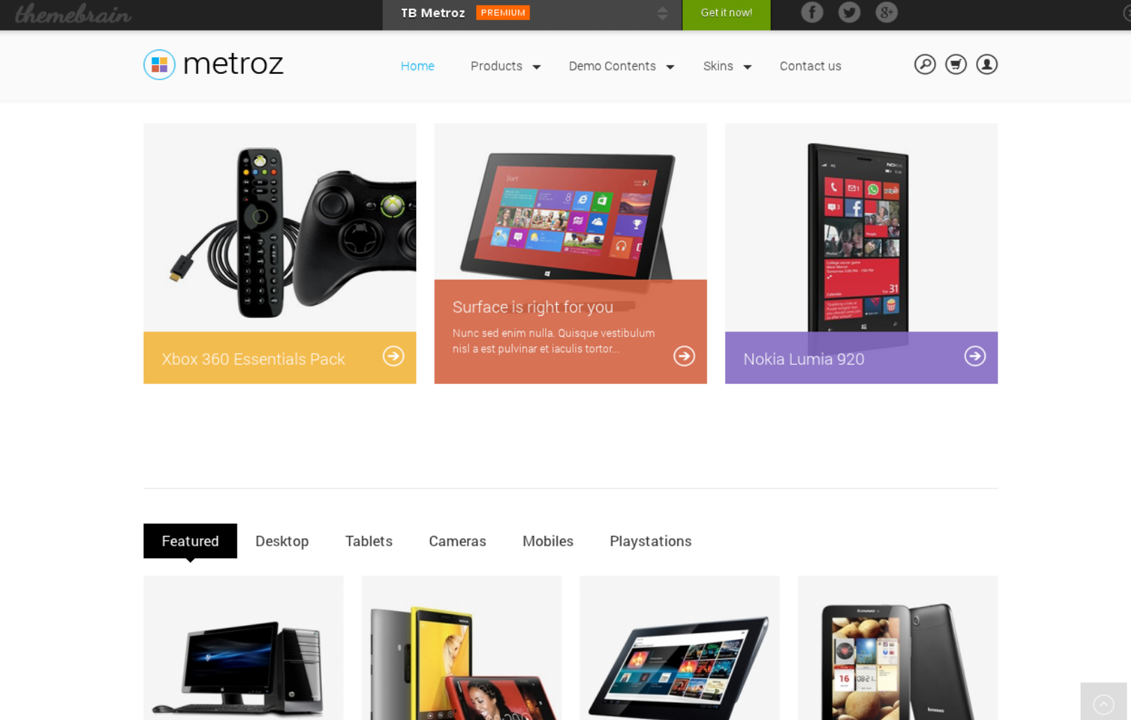 TB Metroz - convenient Drupal ecommerce theme