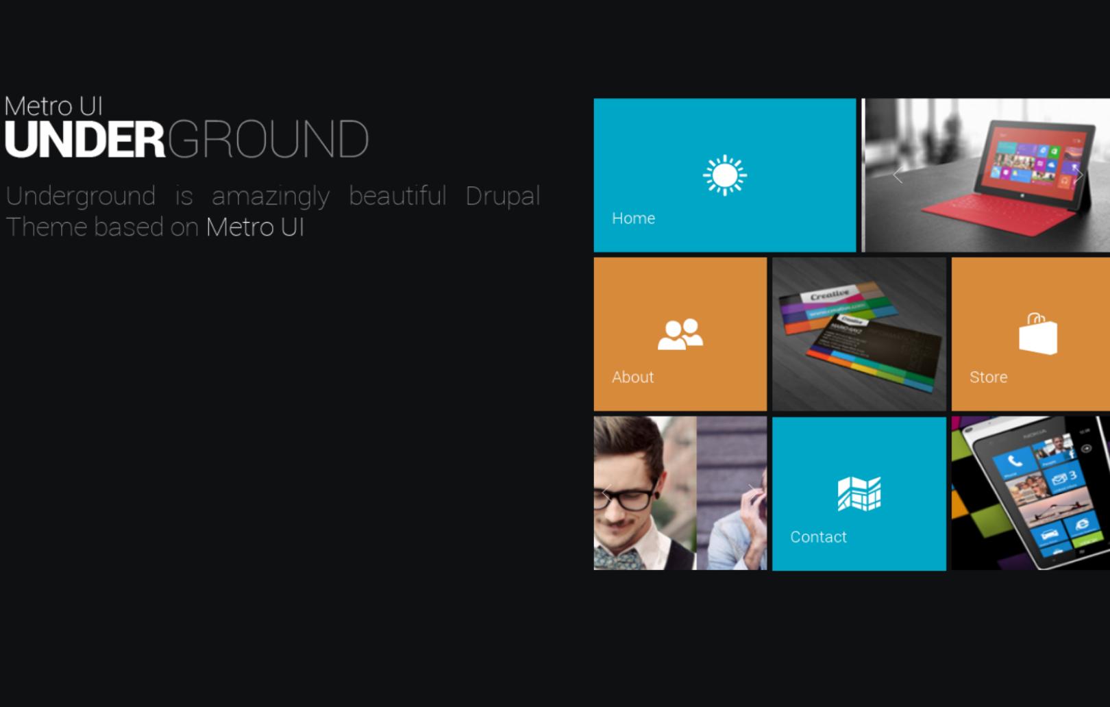Underground - modern Drupal ecommerce theme