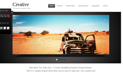 Creative best creative Drupal theme
