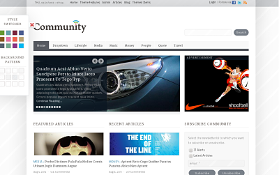 Community - best drupal theme