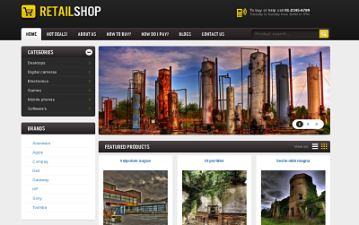 Retail Shop - one of the Best Drupal themes
