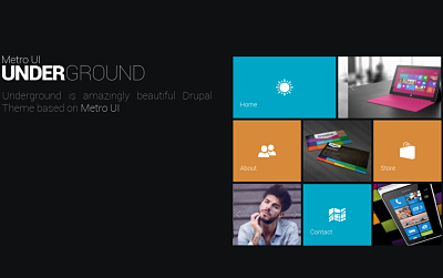 OS Underground - one of the Best Drupal magazine themes