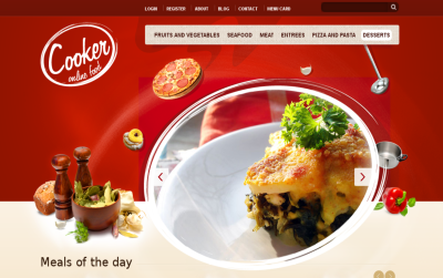 Cooker - one of the Best Drupal restaurant themes