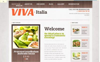 Responsive Pizza -  best drupal restaurant theme