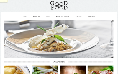 Yummy Food Drink Cafe - one of the Best Drupal themes