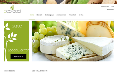 Ecofood - best Joomla VirtueMart template