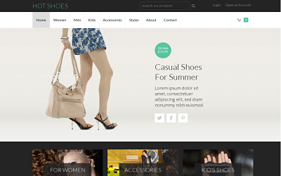 Hot Shoes - one of the best joomla virtuemart templates