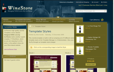 IT WineStore - joomla template