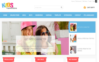 JM Kids Fashion Store - joomla virtuemart template