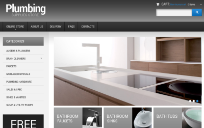 Plumbing - best joomla virtuemart template