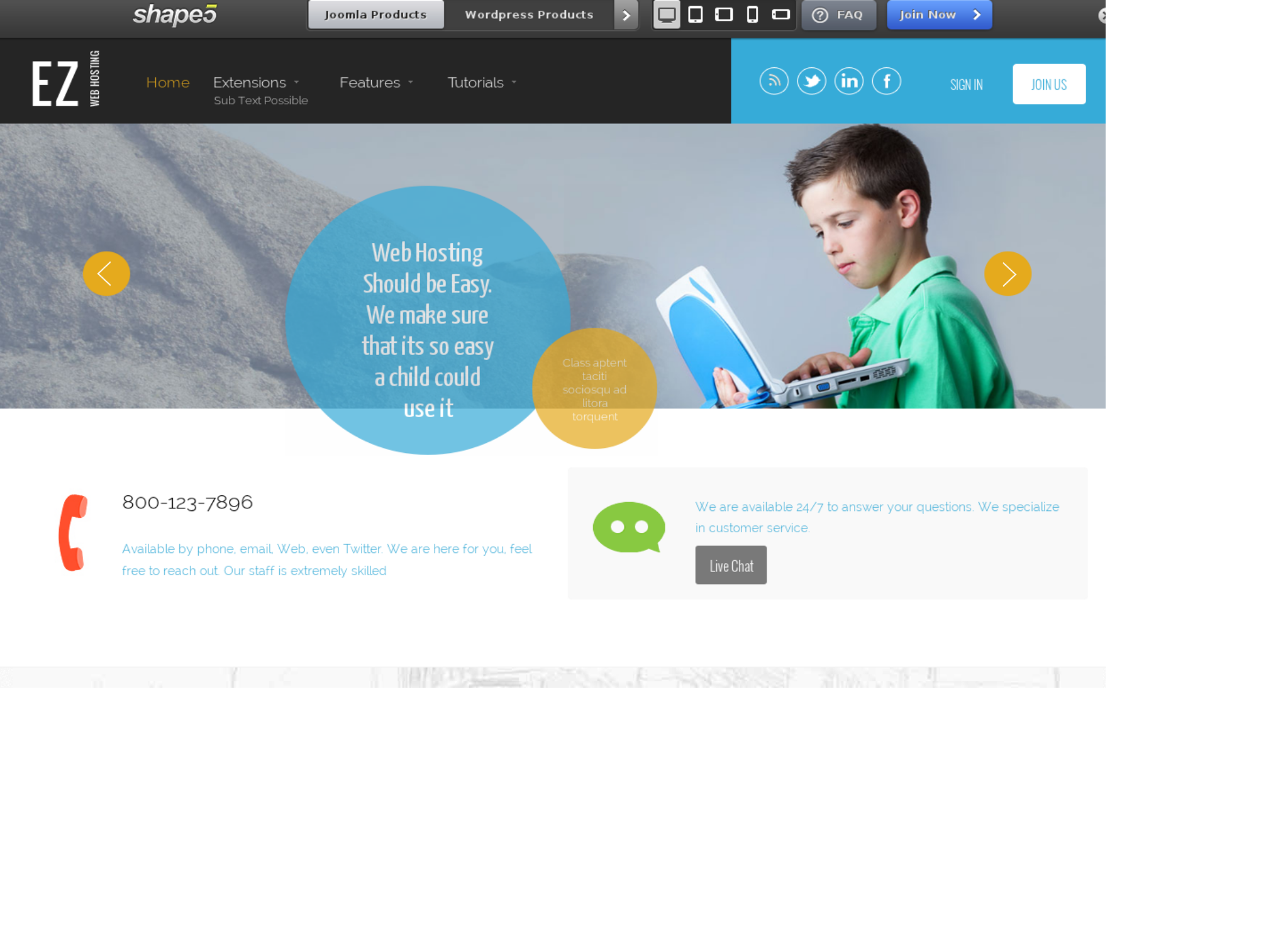 EZ Web Hosting - cool WordPress theme of the May