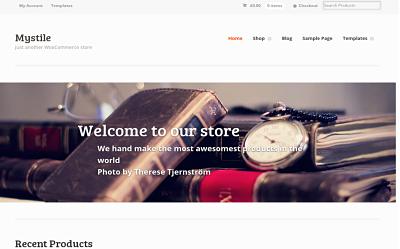 Mystile - download free wordpress theme