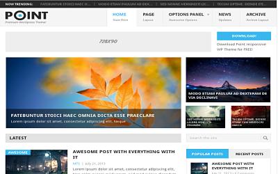 Point - download free wordpress theme