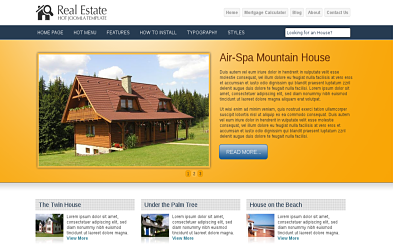 Hot Real Estate - joomla real estate template