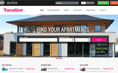 OS Vacation - one of the best joomla real estate templates