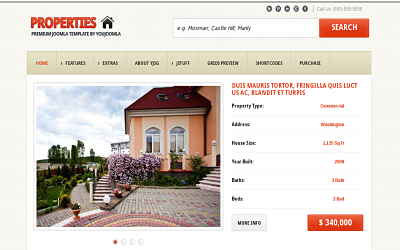 YJ Properties - one of the best joomla real estate templates