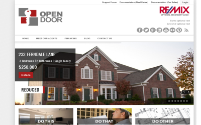 OpenDoor - one of the best real estate wordpress themes