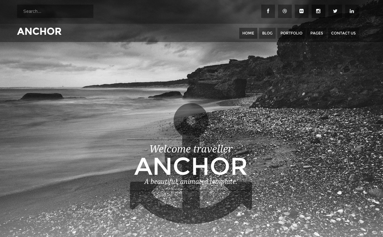 Anchor – Animated Parallax Drupal Theme