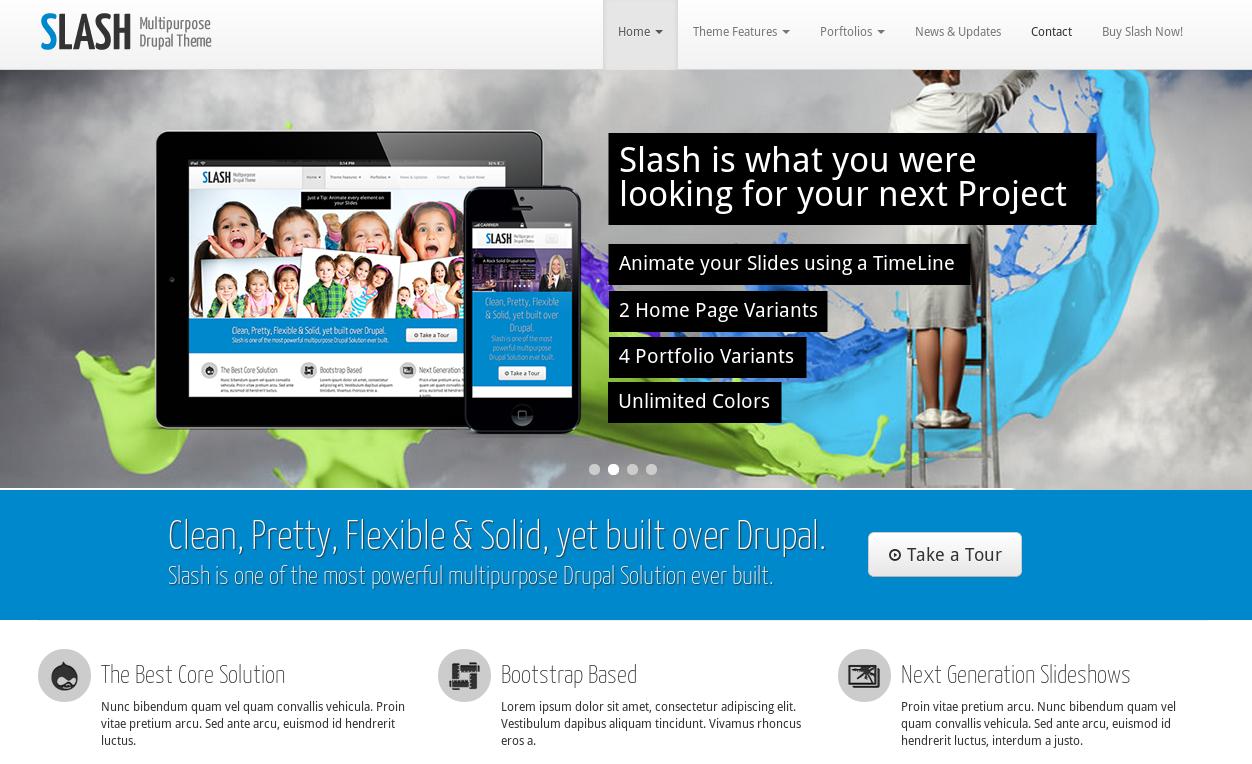 Slash - Drupal theme for Agency, Portfolio, Business