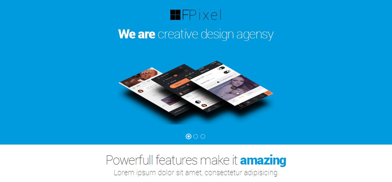Flat Pixel - flat design theme Drupal 7