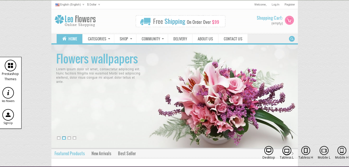 Leo Flowers E-commerce Prestashop Theme