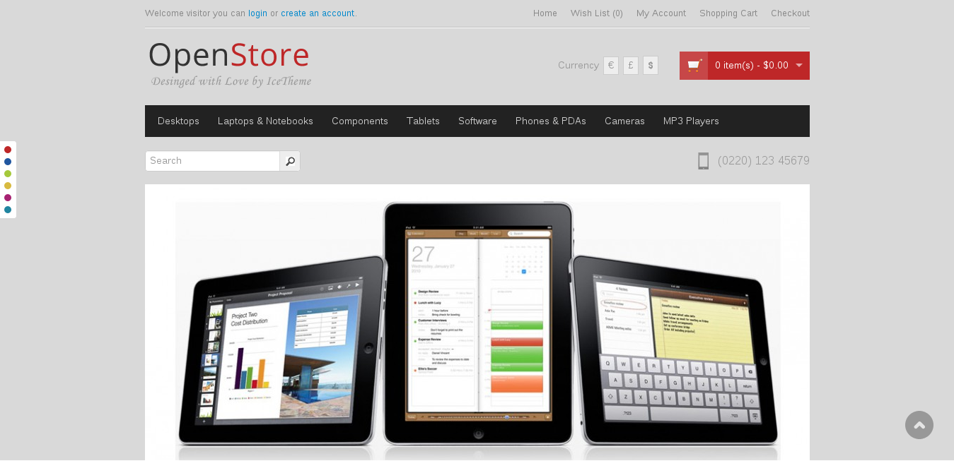 Ice OpenStore,Opencart Free Theme