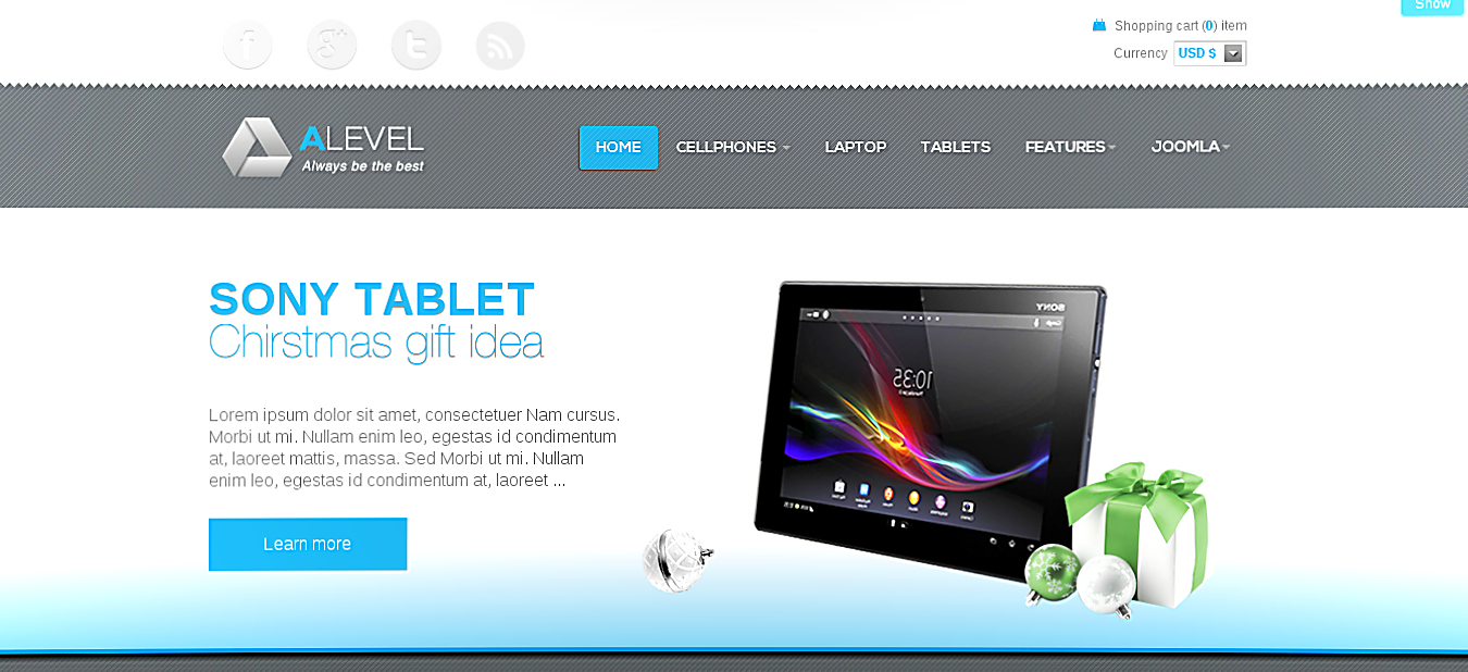 ALEVEL SHOP - JOOMLA VIRTUEMART TEMPLATE
