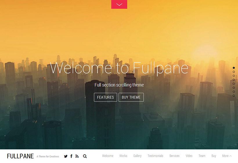 Fullpane - amazing WordPress theme of the january 2014