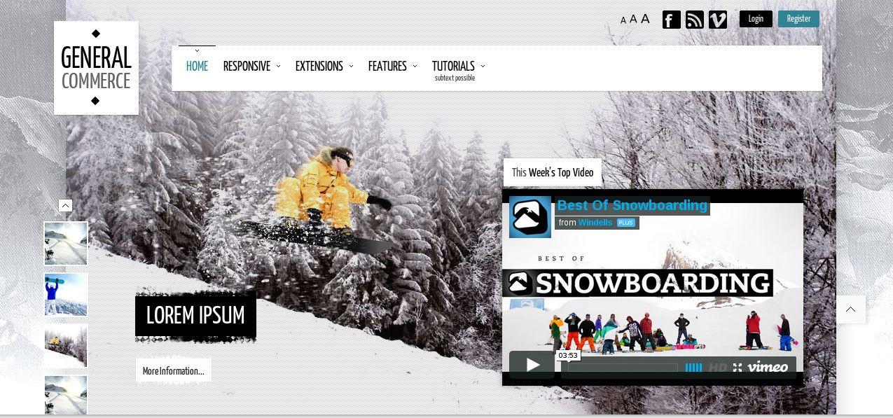 General Commerce - responsive WordPress theme of the january 2014