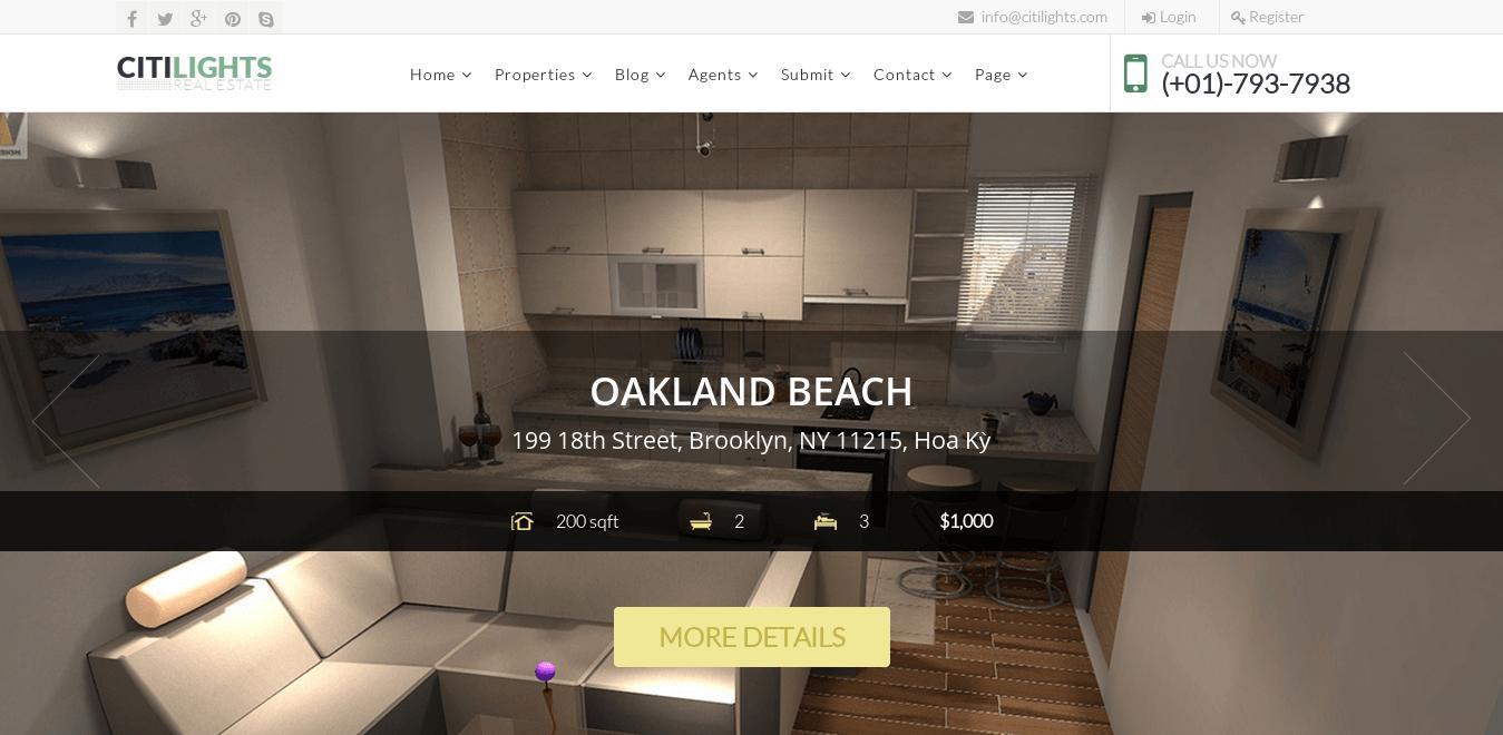 Citilights - Real Estate Joomla Template