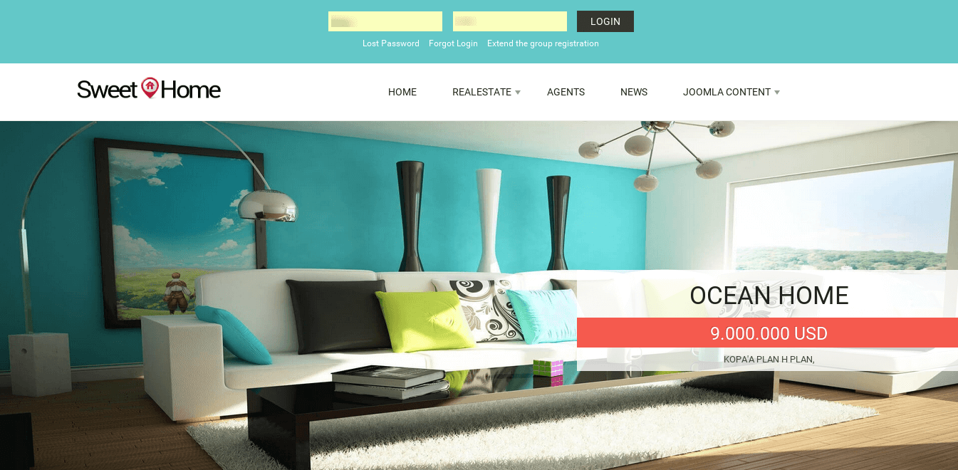 Sweet Home - Real Estate Joomla template