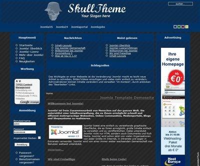 SkullTheme Pinstripe Joomla Template 100CMS