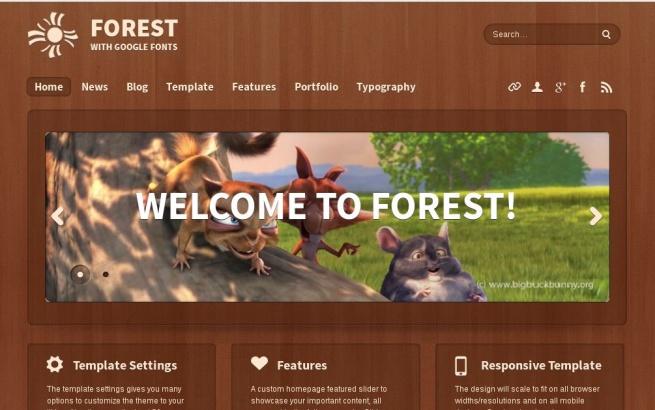 Joomla Template: Forest Theme
