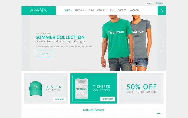 Joomla Template: Arasta Theme