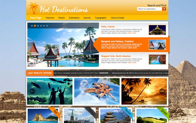 Wordpress Theme: Hot Destinations