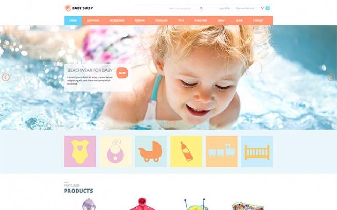 Joomla Template: Baby Shop