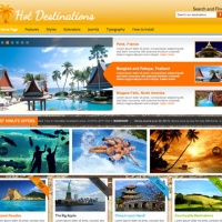Wordpress Free Theme - Hot Destinations