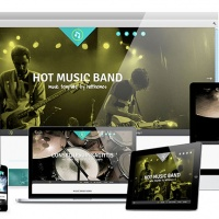 Joomla Free Template - Hot Music Band