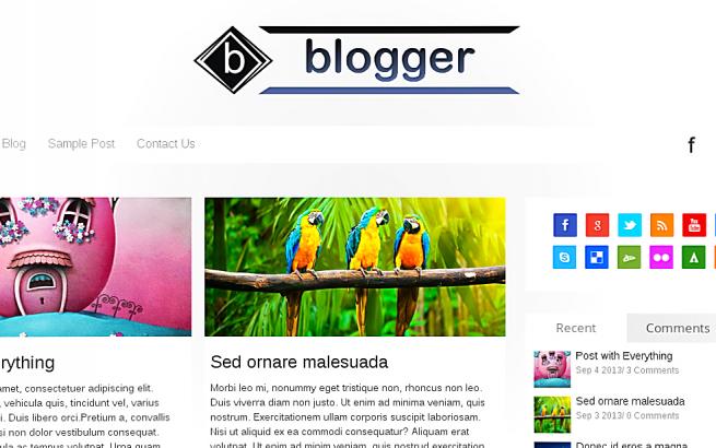 Wordpress Theme: Blogger