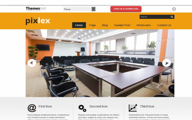 Wordpress Theme: PixLex